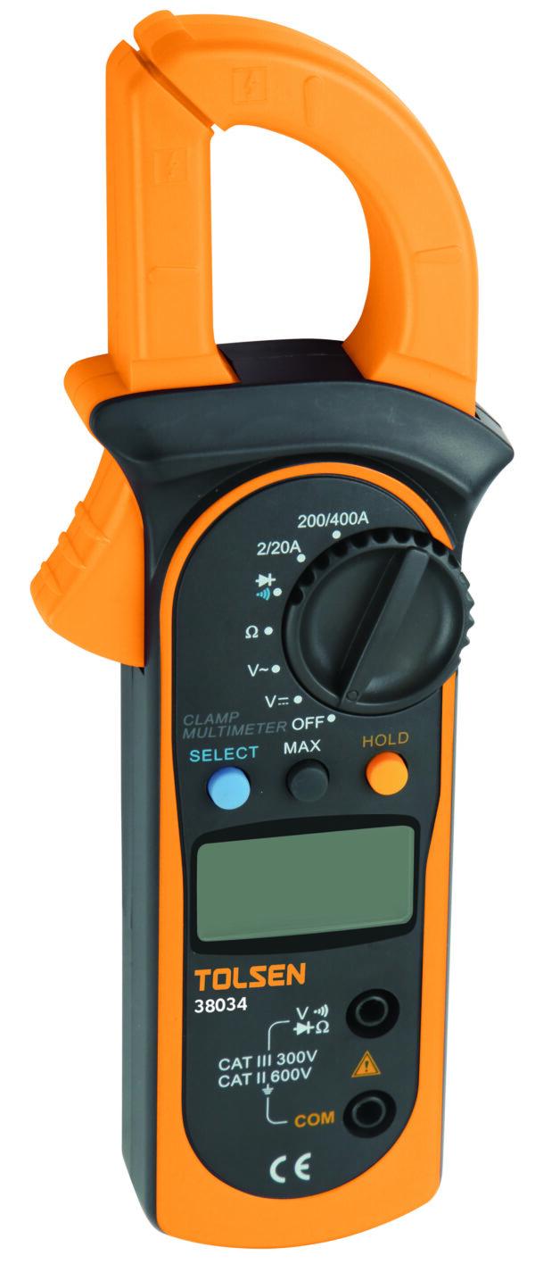 Tolsen digital clamp meter- test- voltage- Current-diode-temperature-resistance-current