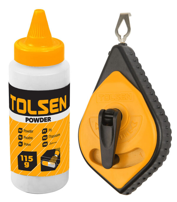 Tolsen Chalk line-30m-red-powder-brick-line-42012