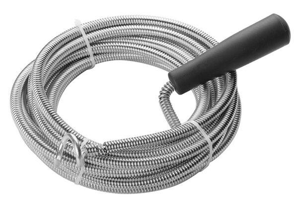 Flexible-drain-unblocker-coil-snake-wire-hook-fat removal-grease-hair-5meter-10meter-50100