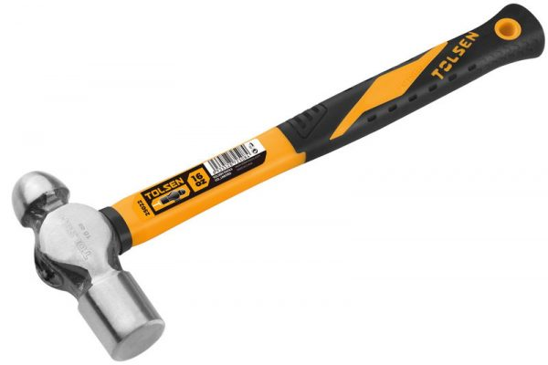 Ball pein hammer-machinist hammer-Fiberglass handle 16oz-metal work-25022-25025