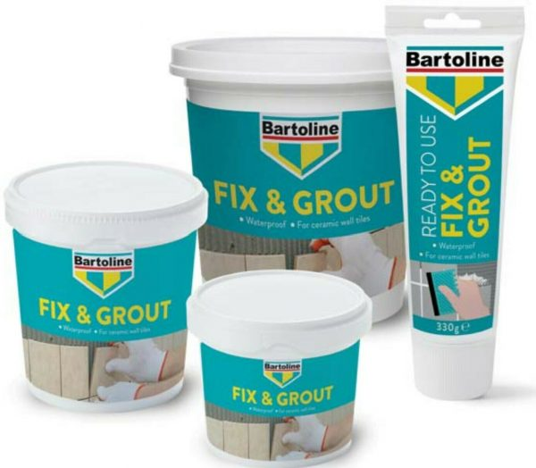 Bartoline fix and grout- tile adhesive-tile grout-white-fixing-broken-tile-repair-ready-mixed-waterproof-small-medium-large