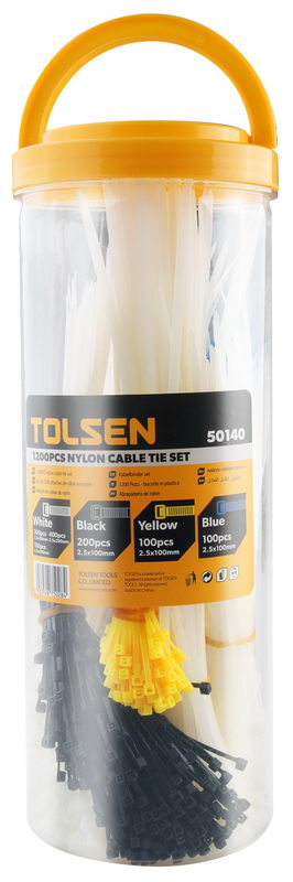 Cable tie set 1200pcs- bulk pack-Tolsen-50140