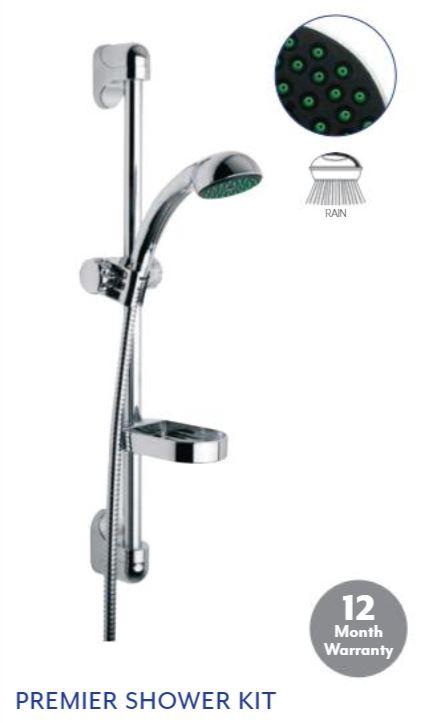 DS TOOLS- Premier-Shower-Riser-Kit-Rail-Shower-Hose-wall-chrome
