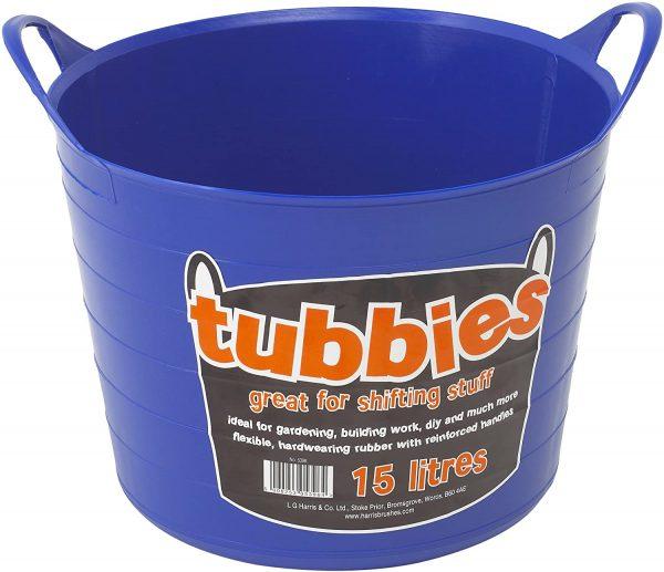 Flexible tub-tubbie-flexible bucket-gorrila bucket- builder bucket-harris-14L- Blue