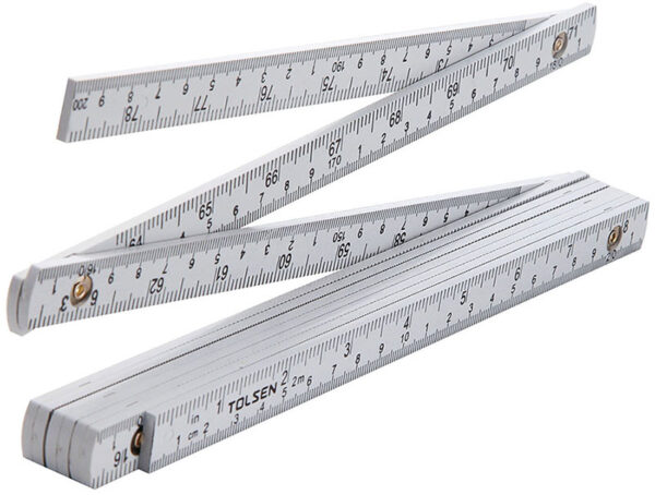Folding ruler-zig-zag ruler-2m-metric-inch35047