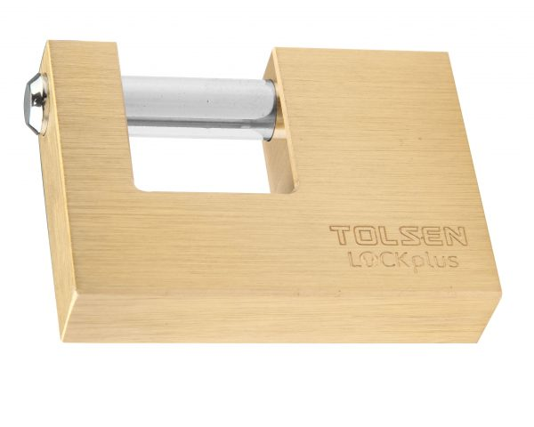Heavy duty shutter padlock Brass-3keys-60mm-70mm-Tolsen- 55126-55127
