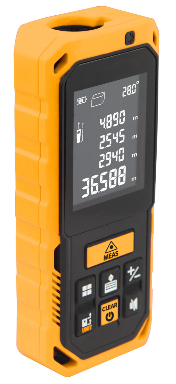 Laser distance meter-Tape measure-area-volume-auto-Tolsen-35178