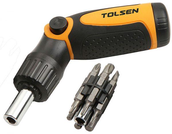 Ratchet screwdriver set 14piece flat pozi torx hex allen key-20040