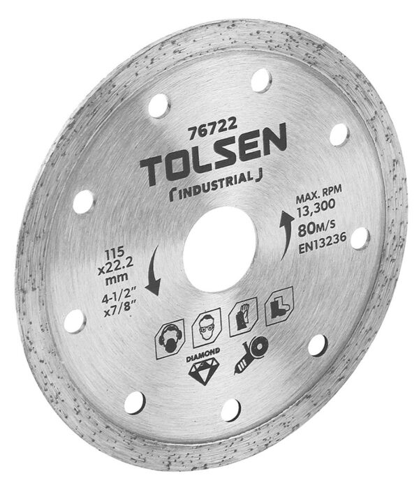 Tolsen diamond cutting disc 4 inch 100mm angle grinding tile cutting disc76722