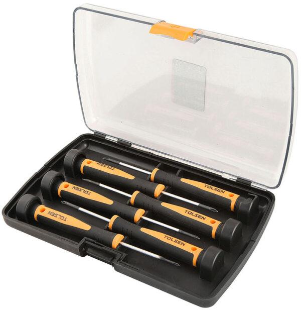 Tolsen precision screwdriver set 6pcs-20030