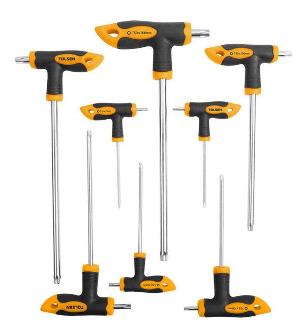 Torx T-handle-screwdriver-set-8pcs-T10-T15-T20-T25-T30-T40-T45-T50-+20061