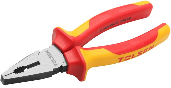 V38116-V38118- Combination plier-cutter-VDE-certified-1000V-insulated-200mm-8-inches-electrical