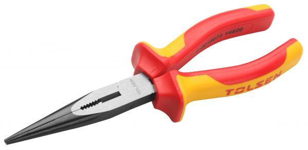 V38136-Long-nose-plier- Narrow-insulated-vde-1000V-8-inches-200mm-1000V-electrical-plier
