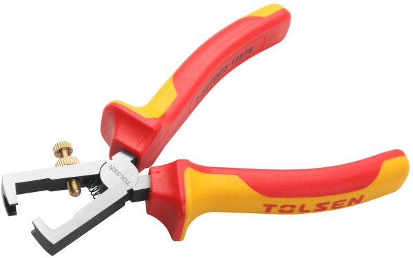 V38176-insulated wire stripper & cutter-ajdustable- plier-vde-1000v-electrical pliers-6 inches-160mm