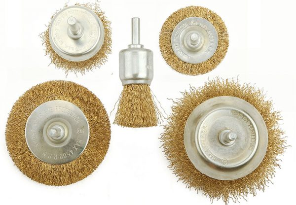 Wire Brush Set with Shank Circular grinding brush cup brush 5pcs